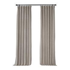 "Signature Blackout Velvet Curtain Single Panel, Cool Beige, 50""x108"""