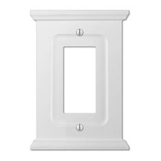 Mantel White Wood 1-Rocker Wall Plate