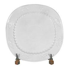 Fish Square Platter White