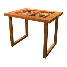 Orange Alligator Skin Backgammon Table