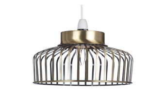 Bedford Antique Brass Easy Fit Pendant Lampshade