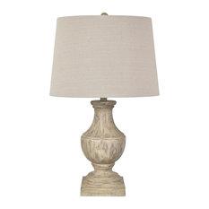 Amelia 1 Light Table Lamp, Brown