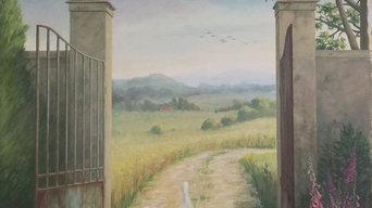 Peinture décorative en trompe-l'oeil