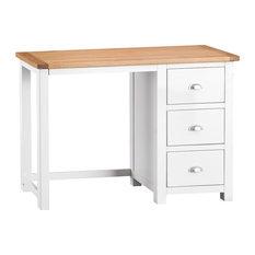 Portland Painted Oak Dressing Table, White