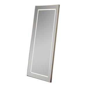 Triple Bevel Leaning Wall Mirror, 79x170 cm
