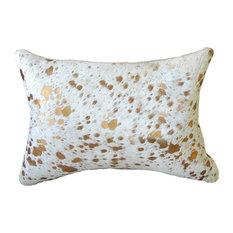 Natural Rugs Torino Scotland Cowhide Pillow Gold 12 X20