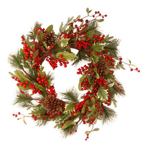 """28.3"""" Red Berry Wreath"""