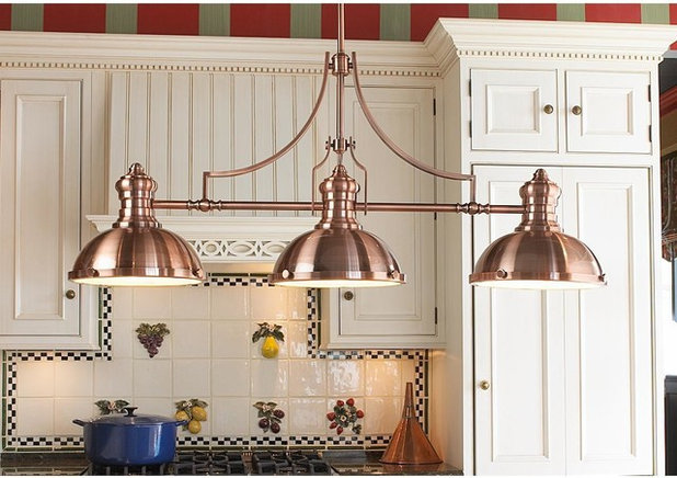 Farmhouse Kitchen Island Lighting by Shades of Light