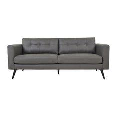 Moe S Colorado Leather Sofa Dark Gray Sofas