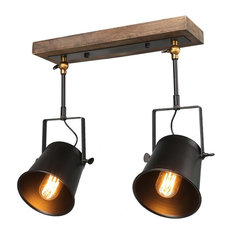 Funnelye Inc Wood Close To Ceiling Track Lighting Spotlights 2 Light