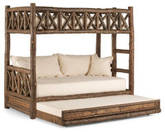 Popular http lalunecollection rustic furniture beds bunk bed with trundle