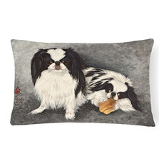 Japanese Chin Impress Fabric Decorative Pillow