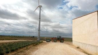 Pose éolienne