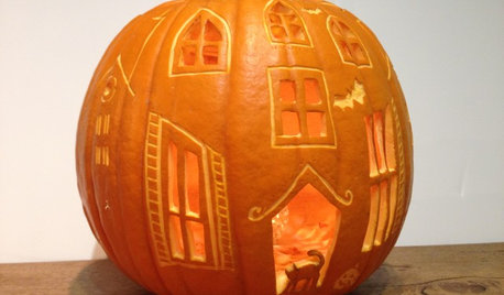 Craft: How to Carve a Haunted House Pumpkin