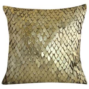 Sandwashed Gold Teardrop Pillow, 61x61cm
