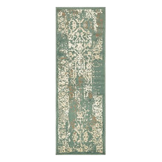 Contemporary Torvis 2'x6' Runner Sage Area Rug