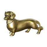 Metal Brass Dachshund Dog Decorative Ornament Gift