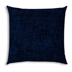 Weave Navy Indoor/Outdoor Pillow, Sewn Closure