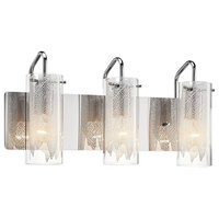 elan Krysalis 3-LT Bath Vanity Light 83070 - Chrome