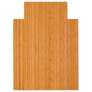Anji Mountain Bamboo 36  x48   Roll-Up Chairmat With Lip