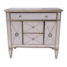 Solitaire Mirrored Sideboard, 3 Drawers