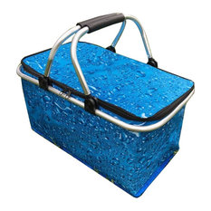 Collapsible Picnic Basket Insulated Picnic Basket Insulated Takeaway Box, Blue