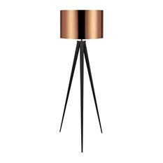 Teamson Design - Romanza Tripod Floor Lamp, Copper - Floor Lamps
