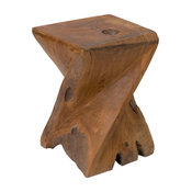 East At Main's Jones Brown Teakwood Stool