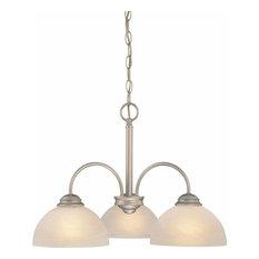 Volume Lighting V2273 Bernice 3 Light 1 Tier Chandelier