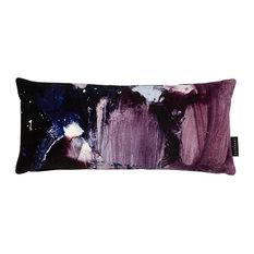 Nebulous Velvet Lumbar Pillow, Violet