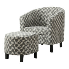 Monarch Specialties - Circular Accent Chairs, Set of 2, Gray - Armchairs and Accent Chairs