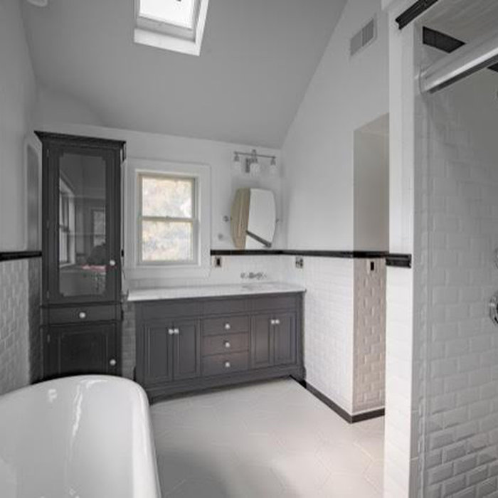 Princeton Renovated Farmhouse Bathrooms