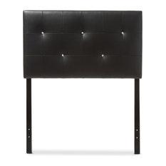 Kirchem Faux Leather Upholstered Twin Headboard, Black