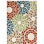 """Orian - Orian Veranda Indoor/Outdoor Berry Circles Area Rug, Multi, 7'8""""x10'10"""" - Inspired by midcentury sunbursts, the Veranda Berry Circles Rug puts a fresh spin on classic designs. Its graphic pattern and vibrant coloring add visual interest to your contemporary living space, wrapping your floors in welcoming style."""