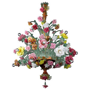 Beatrice Murano Glass Chandelier