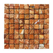 10 Sq. ft. 1x1 Cafe Forest Tumbled