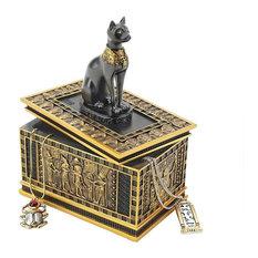 "6"" Ancient Egyptian Cat Goddess Bastet Treasure Jewelry Box"