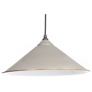 From The Anvil The Yardley Pendant, Warm Grey