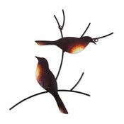 Pair of Sparrows Steel Wall Art