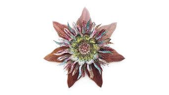 Rustic Burgundy & Sage Wall Decor Flower