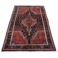 Consigned, Persian Hamadan Rug, 5'3''x7'10'', Black