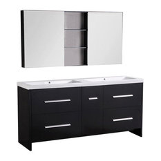 Perfecta 72' Double Sink Vanity Set, Espresso