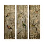 Calima 3-Piece Bird Wall Panel Set