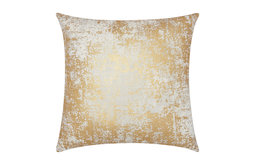 Mina Victory Luminescence Distressed Metallic Pillow, Gold