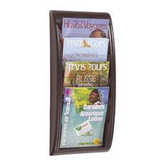 paperflow wall mount magazine rack silver magazine racks