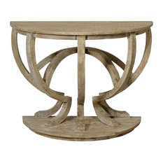 Reclaimed Lumber Demi Lune Console Table