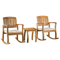 Marvelous Transitional Outdoor Rocking Chairs by GDFStudio