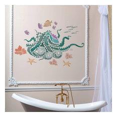 Octopus Garden Wall Art Stencil, Trendy, Easy DIY Wall Designs