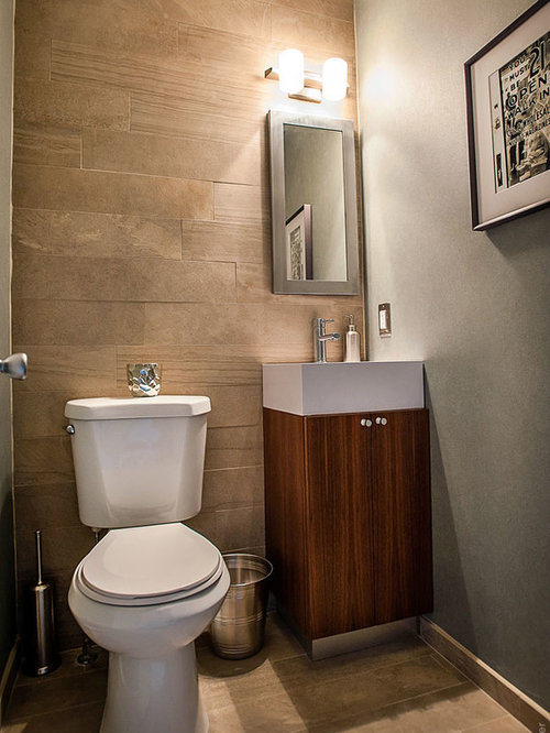 Modern powder room design ideas renovations photos with - Powder room tile ideas ...