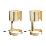 Set of 2 Table Lamp Waltz Gold